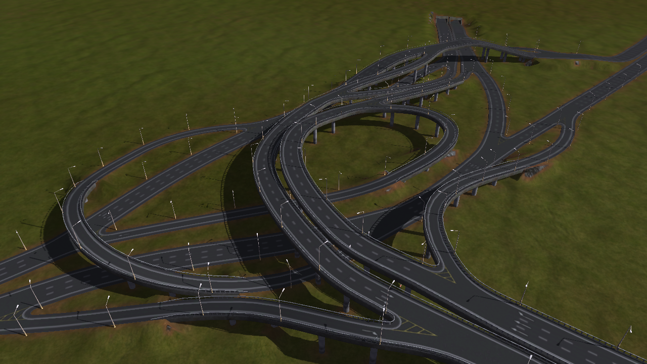 Interchange with tunnel