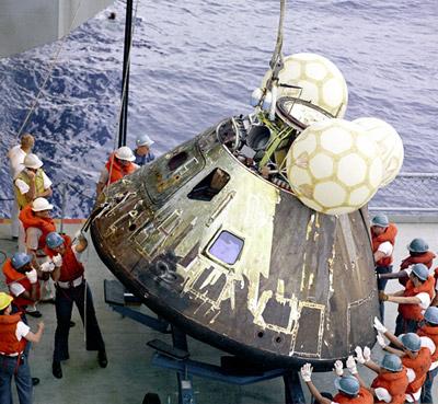 Recovery of the Apollo 13 Command Module