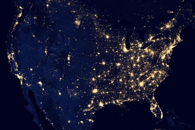 Nighttime Illumination - Continental United States