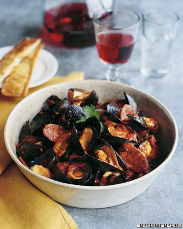 Spicy Mussels Menu