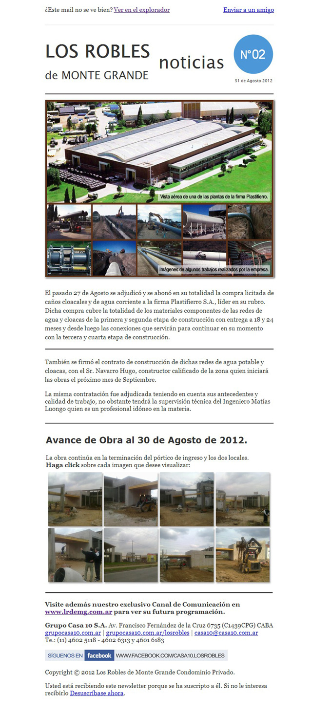 Mailing Los Robles Condominio Privado