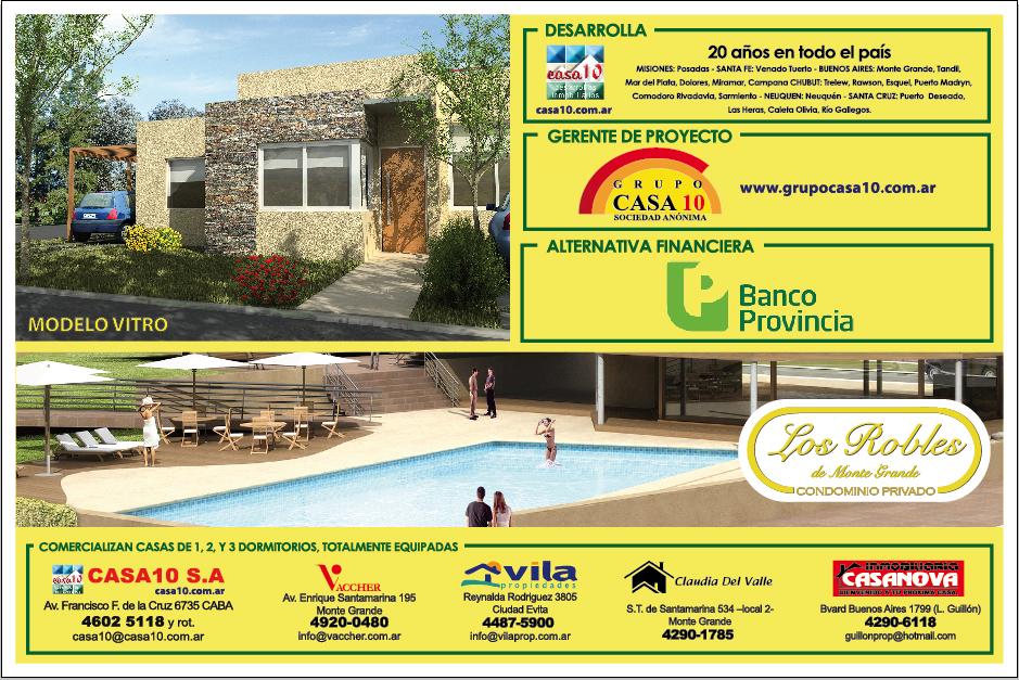 Cartel de obra Los Robles Condominio Privado