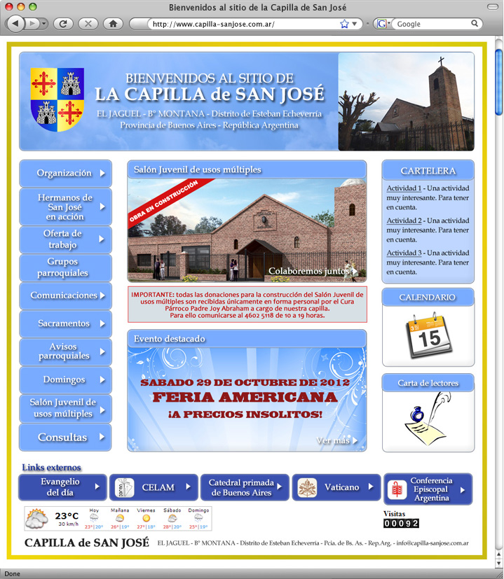 Website Capilla de San José (en construcción)