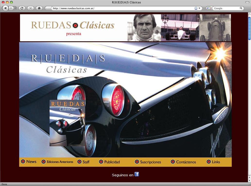 Website Ruedas Clásicas