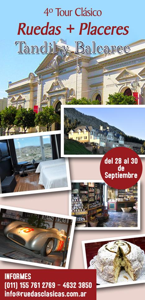 Aviso Ruedas+Placeres Tour Tandil