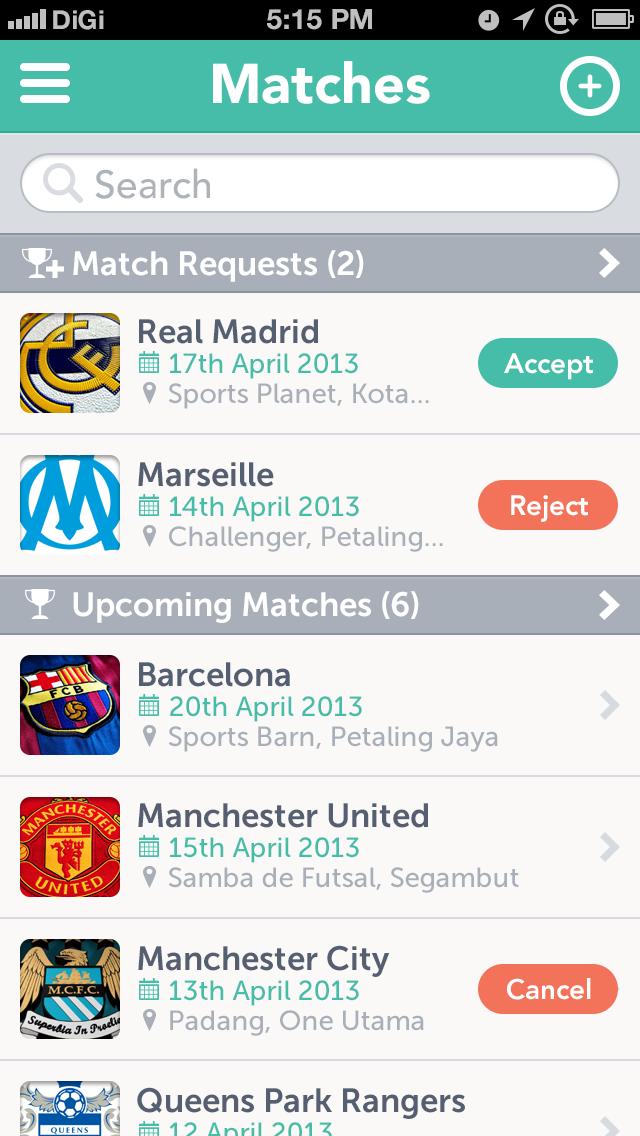 Futsal5ive matches