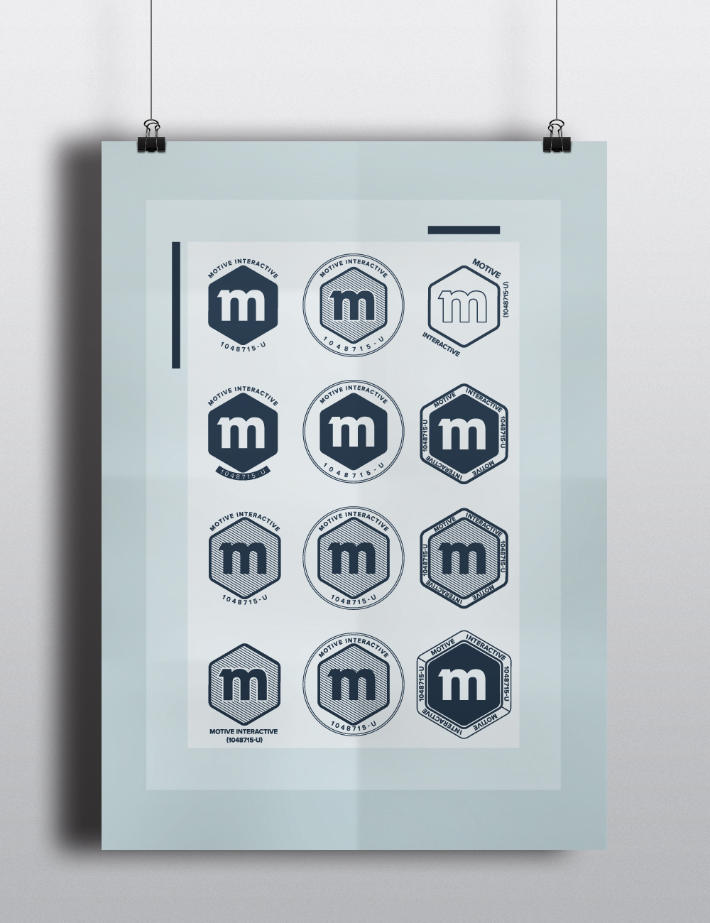 Motive stamp design