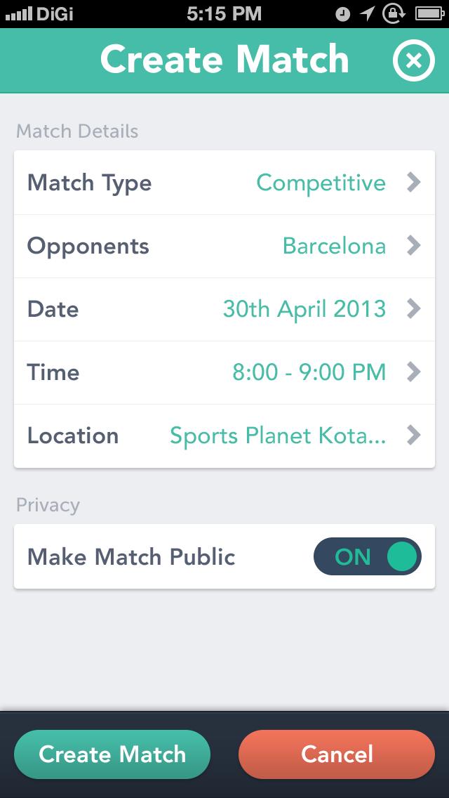 Futsal5ive create_match