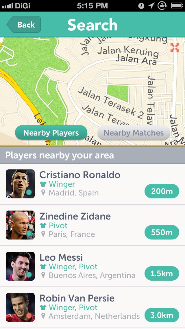 Futsal5ive search