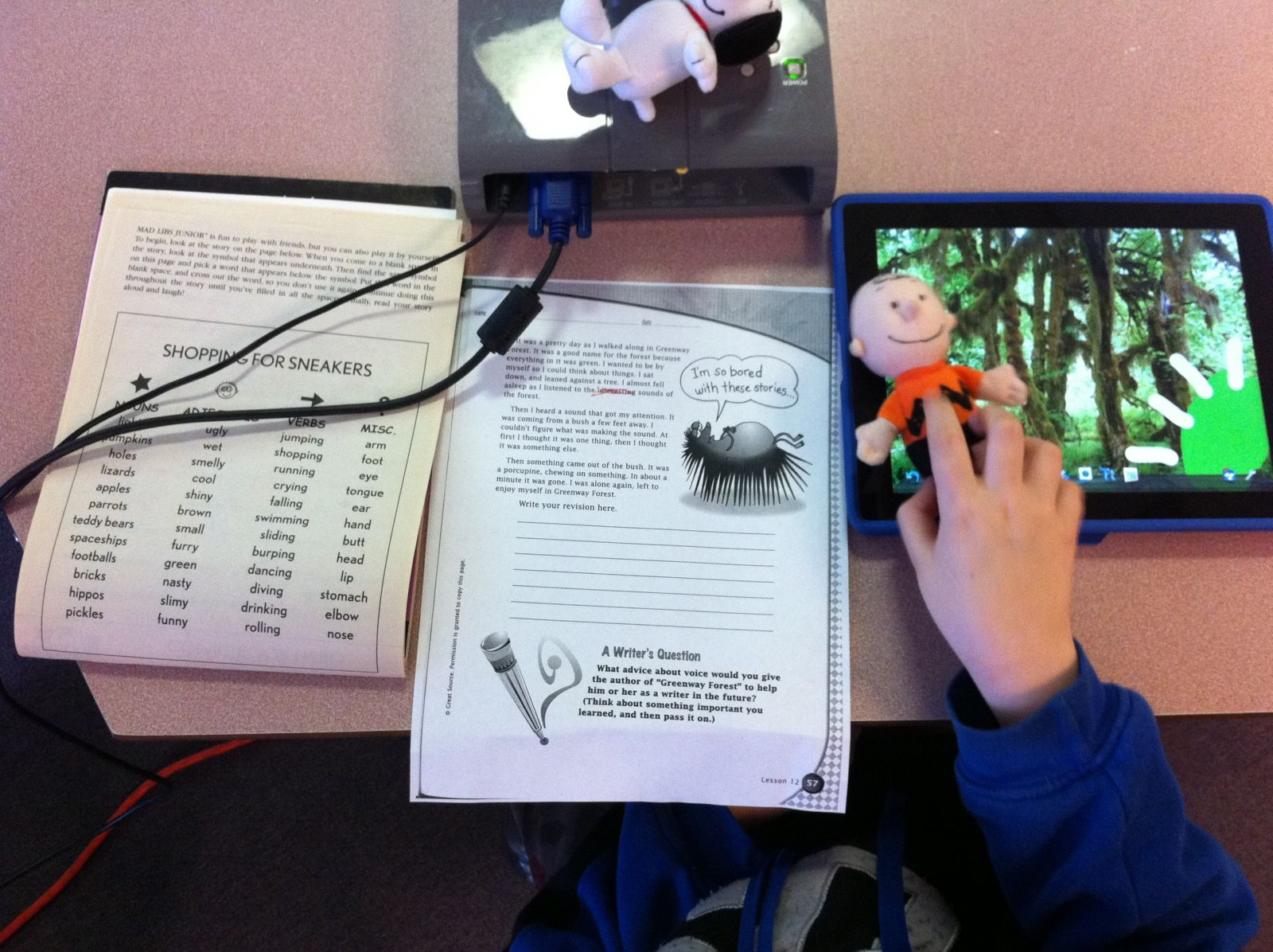 iPad Puppet Movie-Writing